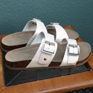 Madden Girl Brando Hologram Mesh Slides Sandal